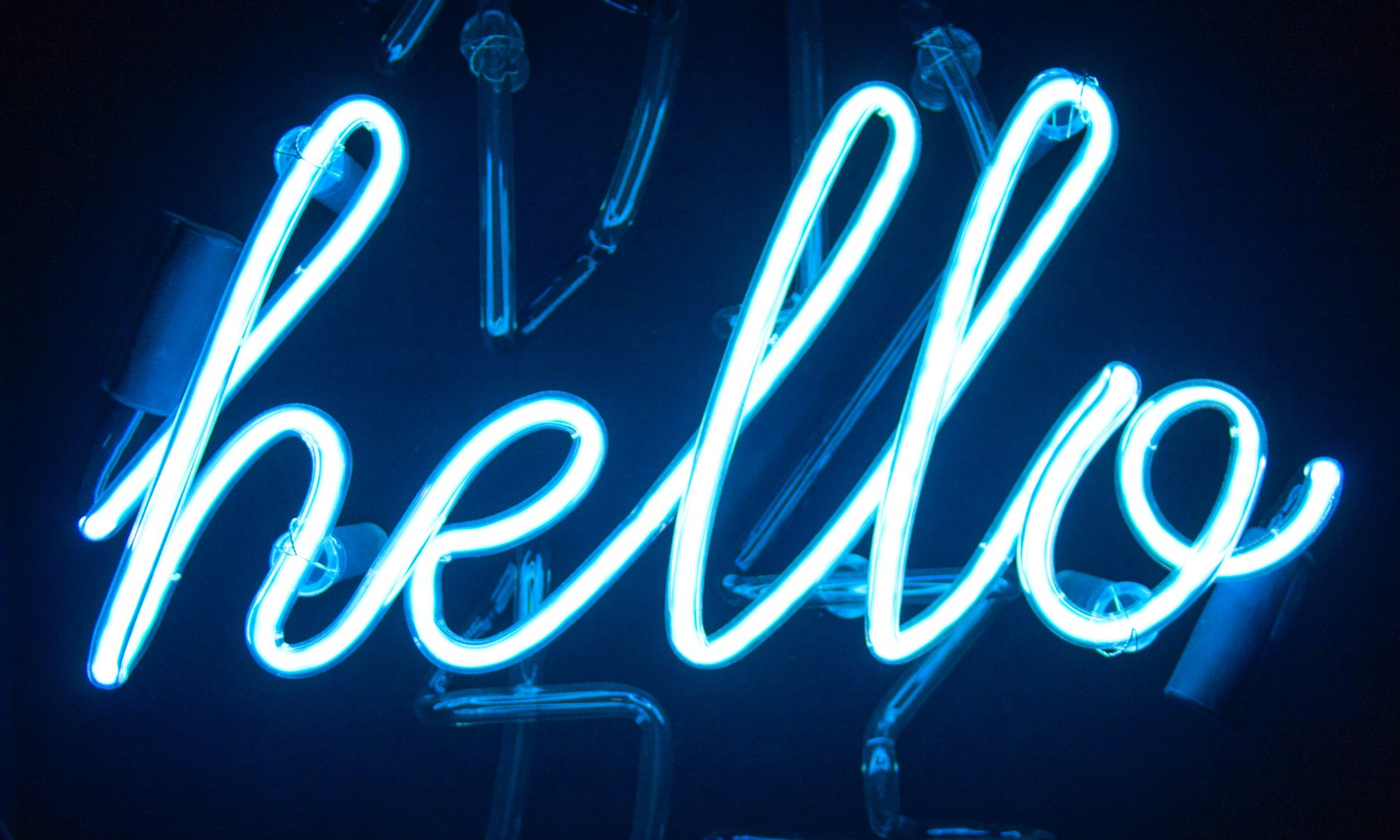 Hello in neon lights