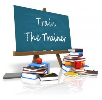 Blackboard with Train the Trainer written on it